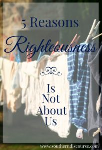 Righteousness is not something you can achieve through self discipline, study & good habits. It's a gift. 5 reasons you don't have to strive & struggle to be righteous. Christian, faith, Bible studies