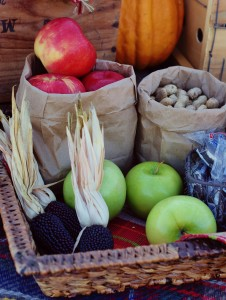 vintage tailgate with apples