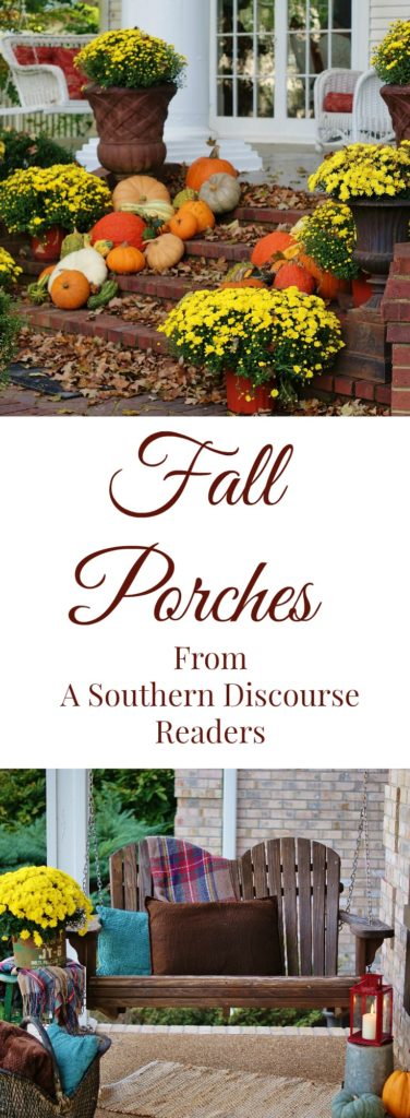 7 cozy fall porches put together by our readers. Great fall porch inspiration!