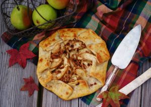 Rustic Pear Galette-delicious fall dessert with pears, honey, and walnuts. Like a pie, only easier!