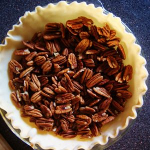 Chocolate Pecan Pie with Bourbon Molasses Whipped Cream