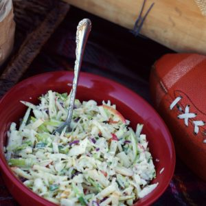 Crisp Apple Coleslaw with Easy Homemade Buttermilk Dressing