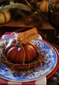 Tips for creating a warm and inviting Thanksgiving table.
