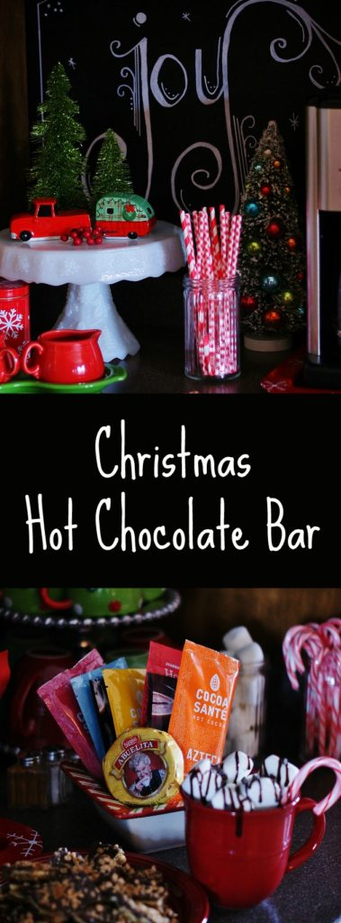 Create a cozy Christmas Hot Chocolate Bar for your family and guests this holiday season.