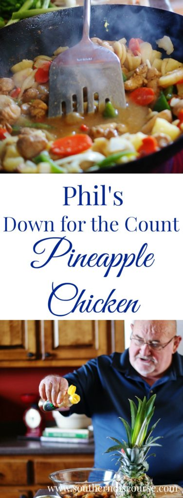 Wrestling legend Phil Hickerson shares his Hawaiian/Asian inspired recipe for Pineapple Chicken & Fried Rice. Perfect for family dinners and plan ahead meals. Feeds a crowd.