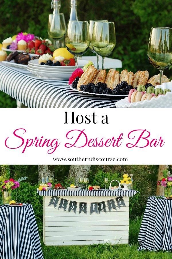 Yummy sweets, Kate Spade stripes, bright spring colors- this spring dessert bar is just the kind of party that let's you do what you do best, focus on your guests.